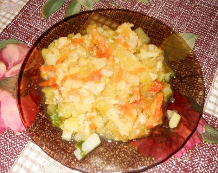 Овощное рагу из цветной капусты и картофеля