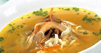 Суп с лапшой и потрохами