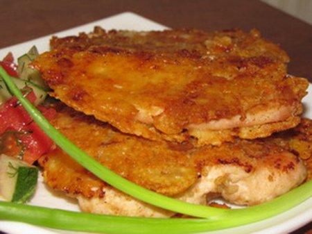 Жареное сочное куриное филе.