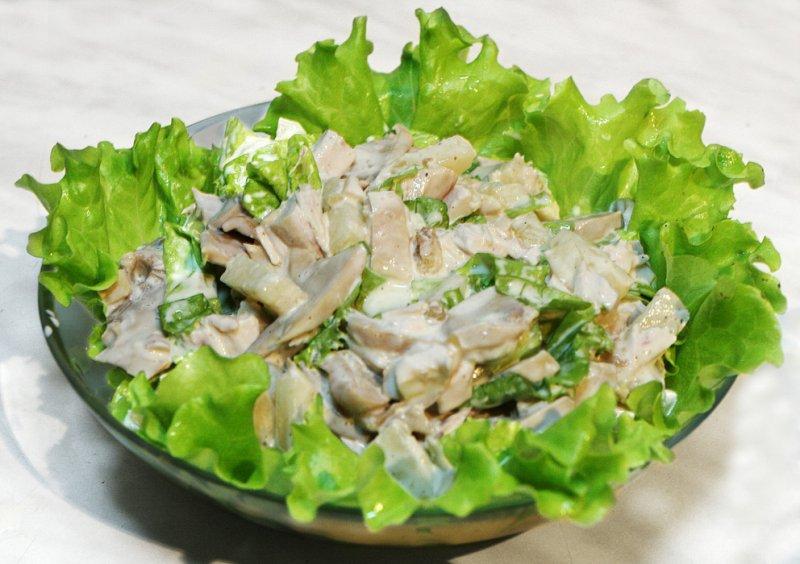 салаты с грибами с фотографиями и рецептами