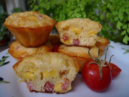 Маффины с сыром и колбасой рецепт
