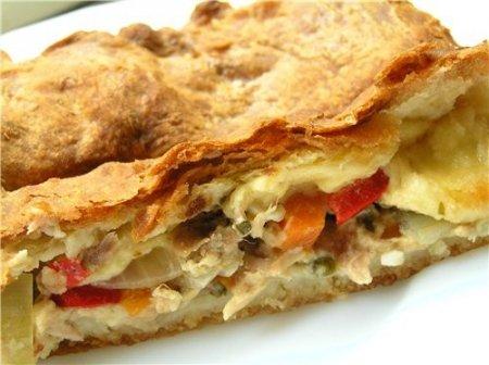 Рецепт Пирог с сыром и курицей
