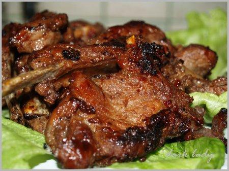 Рецепт Свиные ребра в медовом соусе