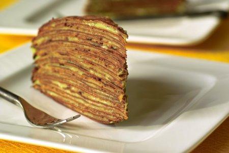 Рецепт Блинный торт со сгущенкой