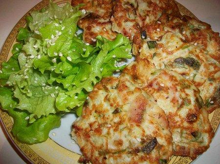 Рецепт Оладьи с капустой мясом и зеленью