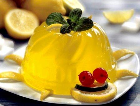 Рецепт Приготовление лимонного желе