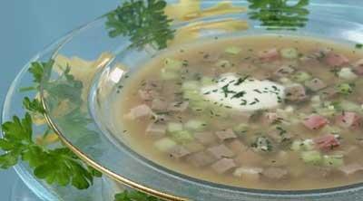 Рецепт мясной русской окрошки