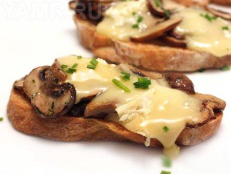 Рецепт Как приготовить бутерброды с шампиньонами