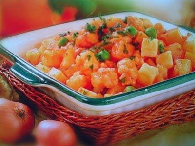 Этапы приготовления картофельного рагу
