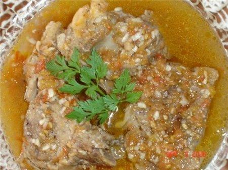 Рецепт Рецепт баранины, тушеной с помидорами