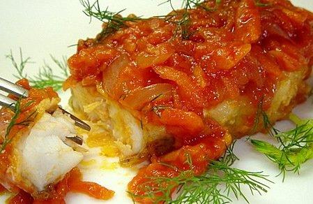 Отличный рецепт рыбы по-гречески