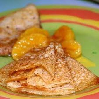 Готовим блинчики с мандаринами.