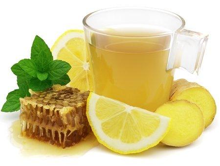 Рецепт Варим имбирный чай с медом