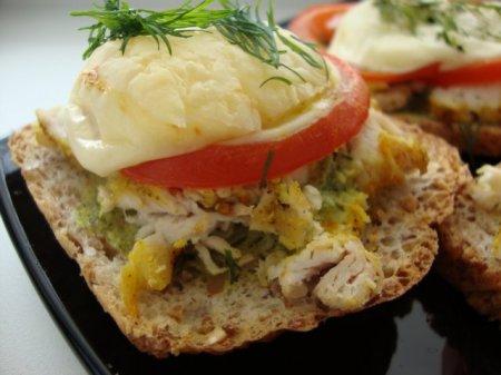 Рецепт приготовления бутербродов с куриным филе