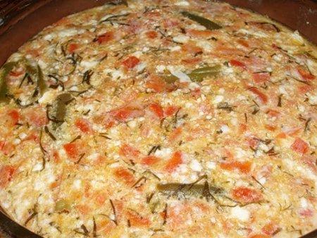 Готовим омлет с помидорами