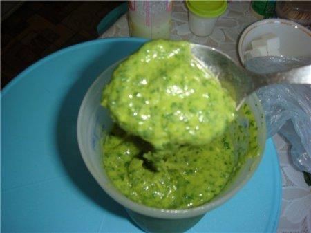 Рецепт Готовим зеленый соус из авокадо