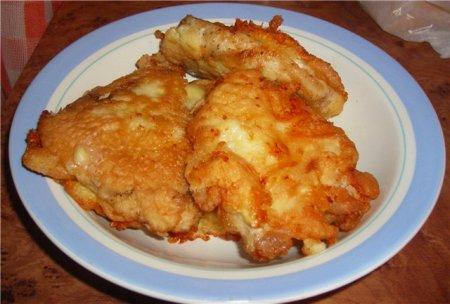 Рецепт Рецепт куриных отбивных с сыром