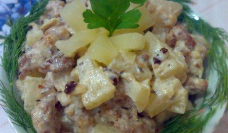 Рецепт приготовления дамского салата.