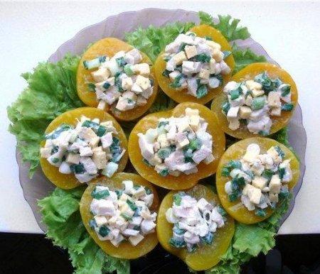 Рецепт Как приготовить салат в персике