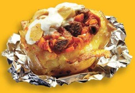 Как запечь фаршированный картофель