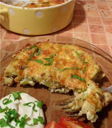 Рецепт Запеканка из кабачков, быстро и вкусно