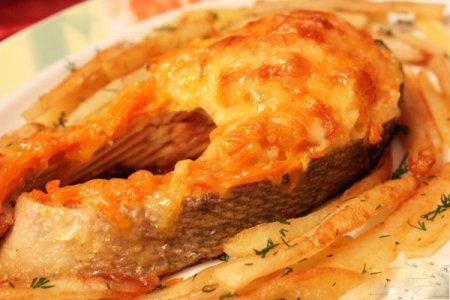 Рецепт Запеченная под соусом рыба