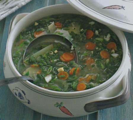 Рецепт Готовим суп с крапивой