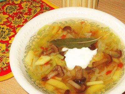 Рецепт Готовим постные щи с щеницей и грибами