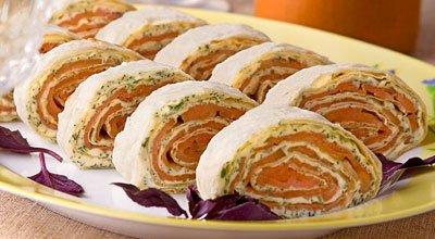 Рецепт Рулет из семги и сыра