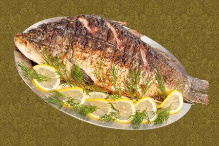 Рецепт Как приготовить золотого карпа с лимоном.