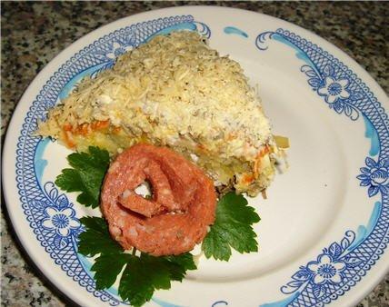 Рецепт Картофельный салат с печенью