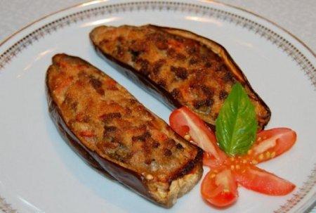 Рецепт Фаршированные баклажаны с мясом