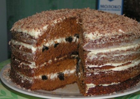 готовим медовый торт с черносливом