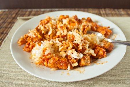 Рис с телячьими почками