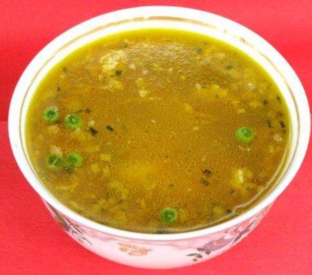 Суп с рисом и лимоном