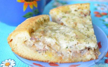 Пирог рыбный, рецепт со сметаной