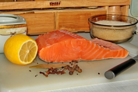 Рецепт Семга соленая, простой способ приготовления.