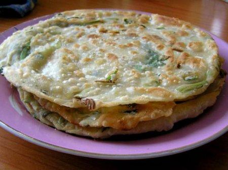 Лепешки с зеленью, вкусный рецепт.