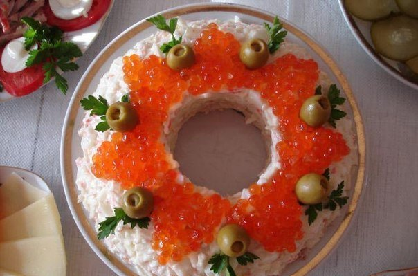 Рыба по царски салат