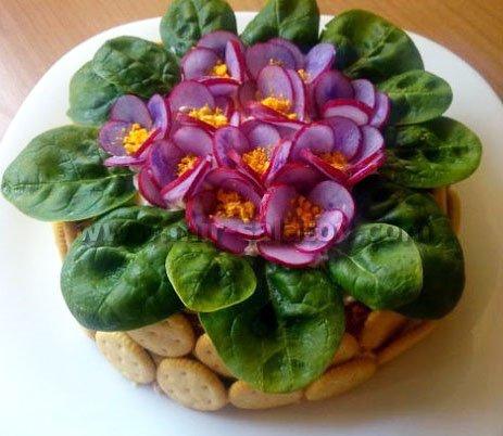 Салат фиалка фото и рецепт с фото