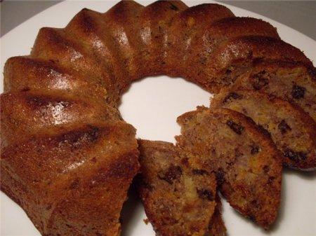 Рецепт Овсяный кекс с черносливом