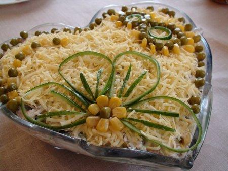 Рецепт Салат с курицей и консервированными грибами