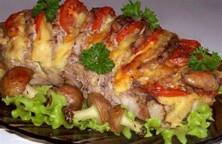 Рецепт Запеченая гармошкой свинина