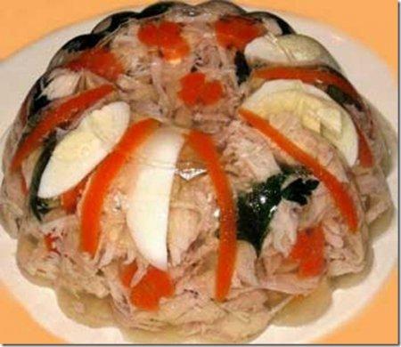 Рецепт Холодец из куриных окорочков
