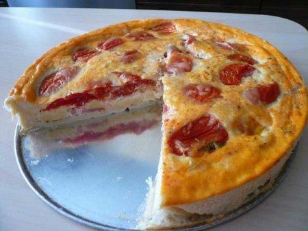 Рецепт Сырный пирог с помидорами