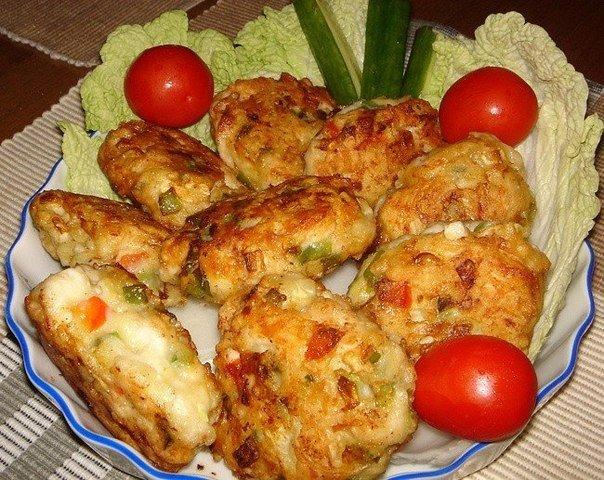 котлеты с куриного филе кусочками рецепт с фото