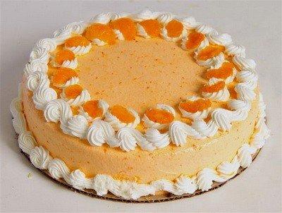 Йогуртовый торт с апельсинами, ананасами
