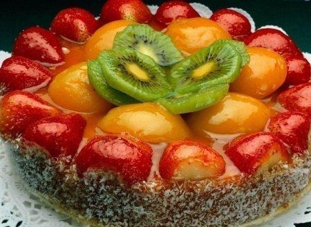 """Торт """"Фруктовый"""" рай"""""""
