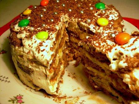 Рецепт Пряничный торт с бананами