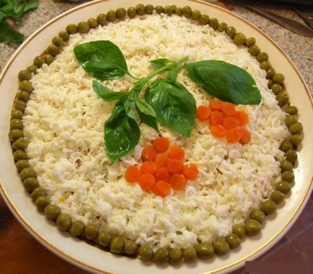 """Рецепт Салат """"Рябина на снегу"""""""
